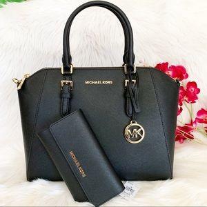 Michael Kors Ciara Satchel W/ Matching Wallet
